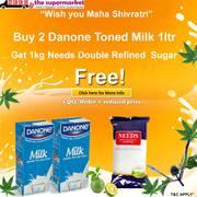 Buy 2 Danone Toned Milk 1 Ltr Get 1kg Needs Sugar Free
