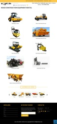 Equipment rental,  Road Construction Equipments on Rent Hire in India.