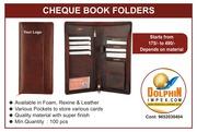 CHEQUE BOOK FOLDERS